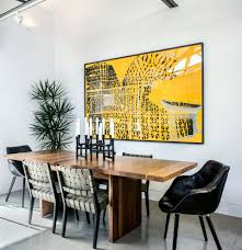 transitional side tables dining room contemporary with framed art