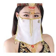 Belly Dance Meme - new chiffon hanging coins belly dance tribal face veil accessories