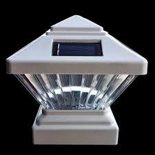 4x4 solar post lights 4x4 decorative white solar post cap light