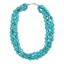 turquoise blue stone necklace images Jane stone chunky turquoise necklace fashion evening jpg