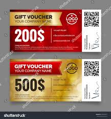 gift voucher template set two cards stock vector 339493817