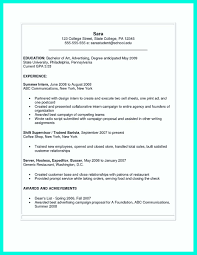 Resume For Summer Internship The Perfect College Resume Template To Get A Job