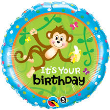 birthday helium balloons birthday monkey go bananas foil helium balloon
