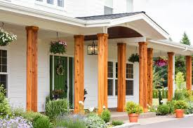 house front porch adding cedar pillars to our dream house lulu the baker