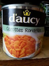 cuisiner des carottes en rondelles carottes rondelles d aucy 400 g