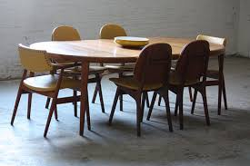 mid century modern dining table set on deck danish mid century modern dining set arne hovmand olsen