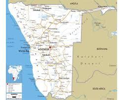 Botswana Map Maps Of Namibia Detailed Map Of Namibia In English Tourist Map