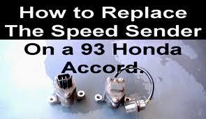 how to change the vehicle speed sensor on a honda accord youtube