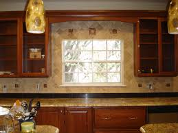 Decorative Backsplash Travertine Backsplash With Decorative Glass Inserts Tek Tile