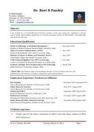 Biology Sample Resume by Sample Resume For Biology Teachers Cover Letter Template