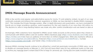 what happened to imdb message boards imdb closing its discussion boards and online movie chat den