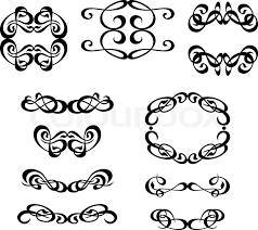 calligraphy ornament frame set stock vector colourbox