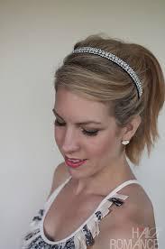 headband ponytail pretty ponytail hairstyle tutorial hair