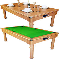 Dining Room Pool Table Combo Dining Room Alluring Image Of Rectangular Green Solid Maple Wood