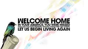 welcome home quotes walldevil