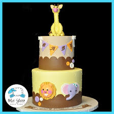 jungle baby shower cakes chic safari jungle baby shower cake blue sheep bake shop