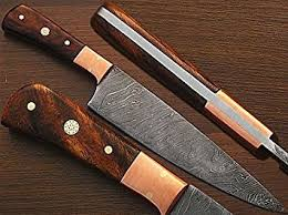 custom made kitchen knives amazon com custom made damascus steel chef knife w coco bola wood