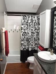 bathroom shower curtains ideas black shower curtain ideas makes your bathroom unique best