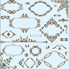 simple frame with borders and ornaments vector design 02 vector
