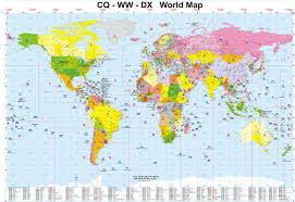 World Map Japan by Cq Zones Ww Locators Dx Countries World Map Usa Europe