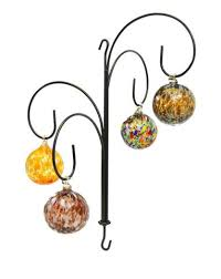 four hook wrought iron hanging ornament display stand 22 h x 18 5