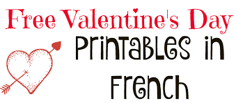 free valentine u0027s day printables in french ladydeelg