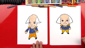 how to draw a cartoon george washington art for kids hub