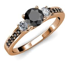 price engagement rings images Three stone rose gold engagement ring in 14k total 1 48 carat for her jpg