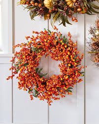 berry wreath fall berry artificial wreath balsam hill