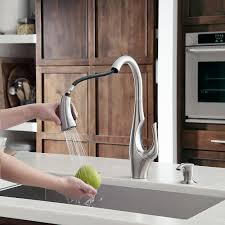 stainless steel indira 1 handle pull down kitchen faucet f 529