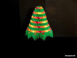 razcapapercraft 3d origami christmas tree tutorial