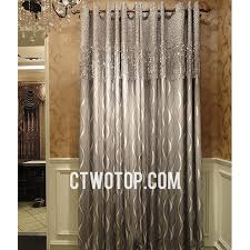 Tassels For Drapes Modern Luxury Fabric Gray And Silver Tassels Striped Curtains