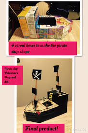 s day card boxes pirate ship valentines day card box i used 4 cereal boxes to