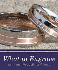 wedding band engravings what to engrave on your wedding rings mountz