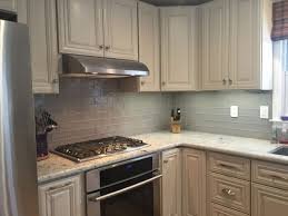 Bianco Antico Granite With White Cabinets Backsplash White Kitchen With Glass Tile Backsplash What Color