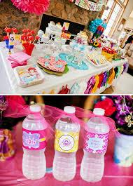 princess birthday party colorful disney princess birthday party hostess with the