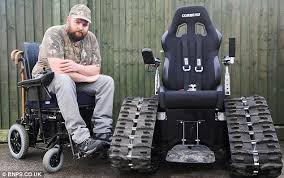 Power Chair With Tracks Disabled Man Banned From Using Off Road U0027tank Wheelchair U0027 Which By