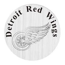 locket plates 20 pcs 22mm stainless steel hockey team detroit wings locket