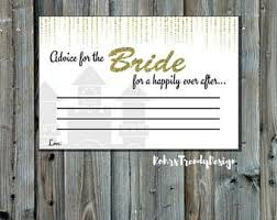 Advice Cards For Bride Bridal Advice Cards