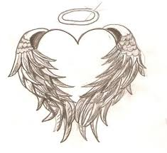 32 best heart with wings tattoo neck images on pinterest black