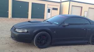 Matte Black Mustang Wheels Plasti Dip Matte Black 2004 Roush Mustang Gt Youtube