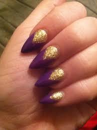 10 purple stiletto nail designs you must have gold stiletto