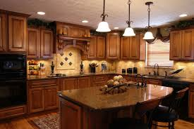 Latest Trends In Kitchen Design by Interesting Brown Wooden Kitchen Cabinet With Mosaic Mirror