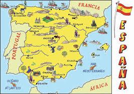 map of spain cultural map of spain spain