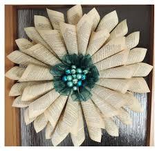 papírová růže věnec diy paper wreath christmas decorations