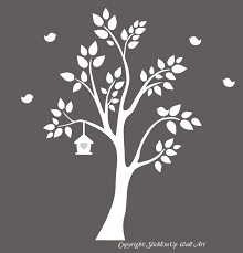 White Tree Wall Decal For Nursery by White Tree Wall Decal For Nursery Uk Color The Walls Of Your House