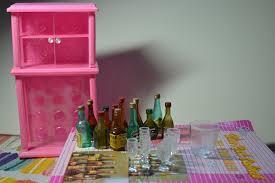 Barbie Dolls House Furniture Amazon Com Barbie Size Dollhouse Furniture Wine Cabinet Liquor