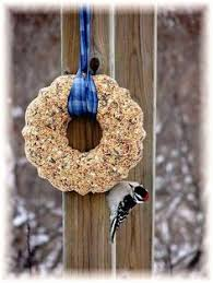birdseed ornaments without gelatin or suet made