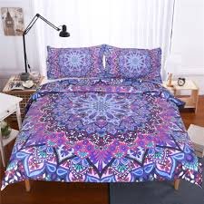 bedding outlet stores beddingoutlet purple glowing mandala duvet cover with pillowcases