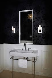 Black And White Wallpaper For Bathrooms - bathroom chair rail design ideas
